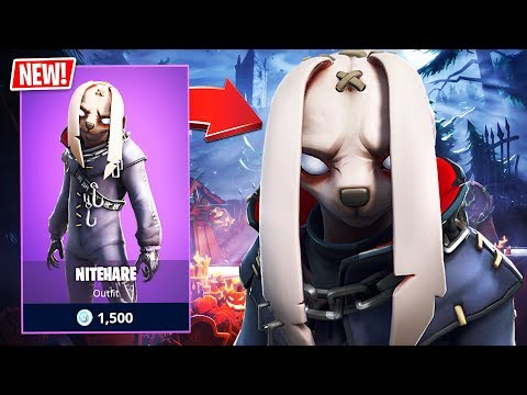 New Creepy Nitehare Bunny Skin! (Fortnite Battle Royale)