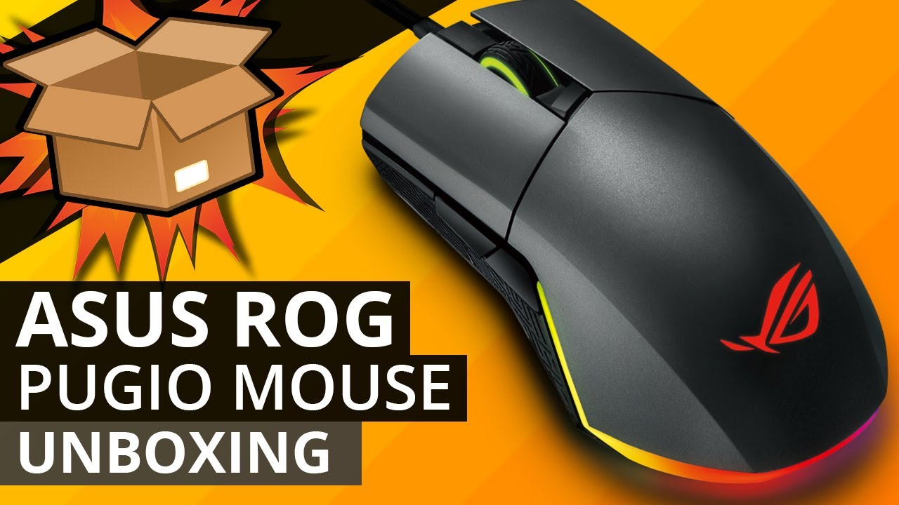 ea75fcc06e7 ASUS ROG PUGIO GAMING Mouse UNBOXING - Gaming mouse with RGB AURA sync