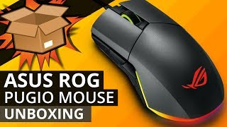 ASUS ROG PUGIO GAMING Mouse UNBOXING - Gaming mouse with RGB AURA sync