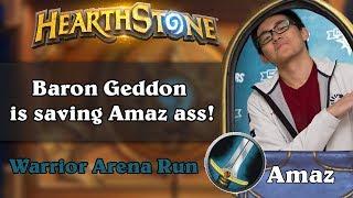 Hearthstone Arena - Baron Geddon is saving Amaz ass!