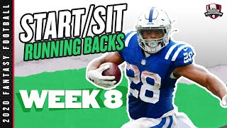 2020 Fantasy Football Advice - Week 8 Running Backs - Start or Sit? Every Match Up