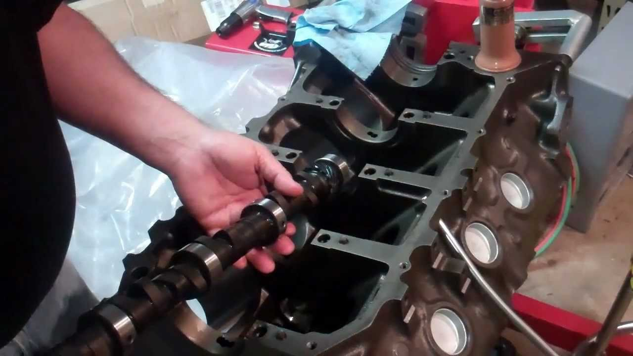 Installing Cam Bearings and Cam - YouTube