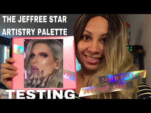 TESTING THE JEFFREE STAR ARTISTRY PALETTE | MORPHE X JEFFREE STAR | Mrs Queen B thumbnail