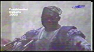 PRESIDENTIAL DEBATE: CHIEF OLUSEGUN OBASANJO