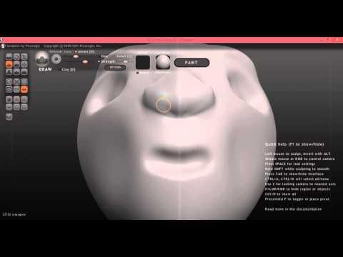 Tutorial modelando Cabeça humana no Sculptris para o Blender #1-Modelagem
