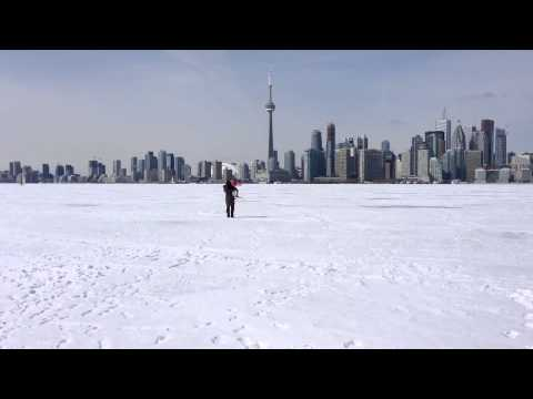 Walking on Frozen Lake Ontario
