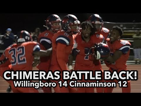 Willingboro 14 Cinnaminson 12   Chimeras rally from 12-0 down