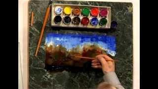 5 Пять минут - и ты художник! Нарисовать горы (2)(5 Пять минут - и ты художник! Урок второй: Рисуем горы. Вы хотели научиться рисовать, но не знаете с чего начат..., 2012-04-25T09:17:34.000Z)