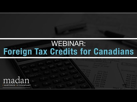 Webinar: Foreign Tax Credits For Canadians