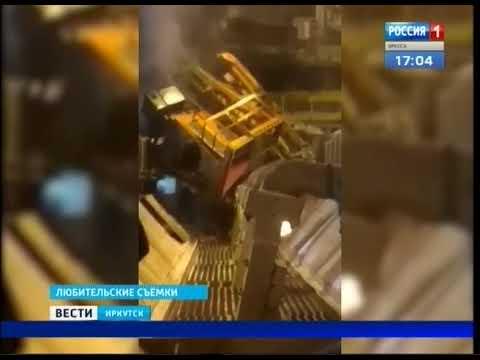 Мужчина, который находился в упавшем кране в Шелехове, получил травмы, но уже продол