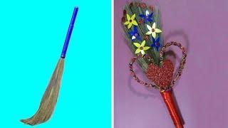 Best Out Of Waste Broom Craft Idea | DIY Craft Project | Broom Craft | Home Decoration Idea