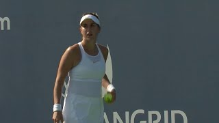 Belinda Bencic defeats Camila Giorgi 2018 US Open Series Connecticut Open R16