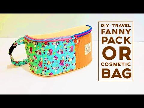 a4956d904fae Diy travel fanny pack | Cosmetic bag tutorial #HandyMum ❤❤