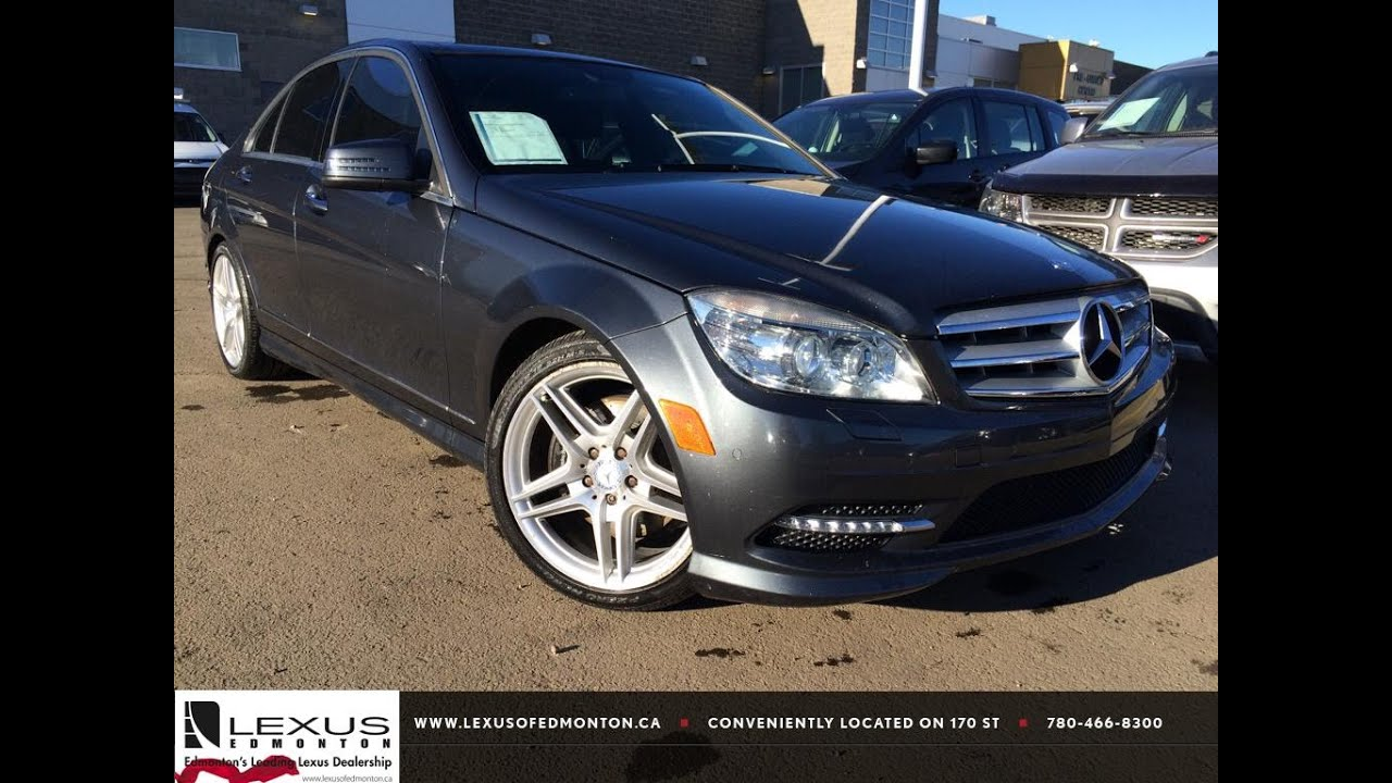 Used grey 2011 mercedes benz c class c350 4matic review lethbridge alberta youtube