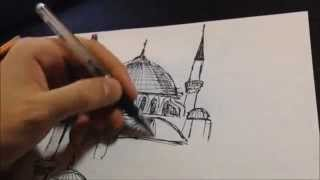 Mosque Fast Drawing