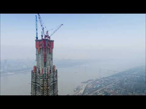 Wuhan Greenland Center construction