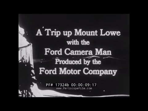 """"""" A TRIP UP MOUNT LOWE WITH THE FORD CAMERA MAN""""  MT. LOWE RAILWAY & FUNICULAR  PASADENA 17324b"""