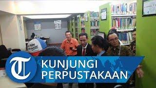 Nadiem Makarim Langsung Kunjungi Perpustakaan Kemendikbud seusai Sertijab dengan Muhadjir Effendy