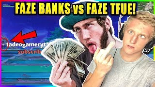 FAZE TFUE vs FAZE BANKS 1V1! BANKS TRIED DOING TFUE DIRTY! Fortnite funny & Savage moments