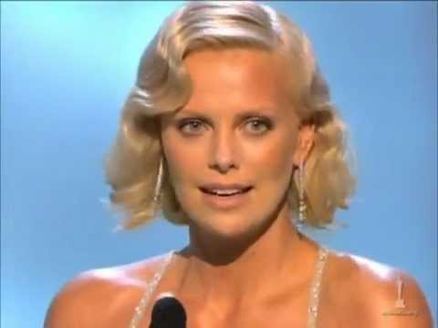 Charlize Theron Oscar Speech For Best Actress For Monster Youtube