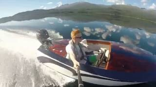 Glen-L Squirt runabout out on Norwegian lake and fjord