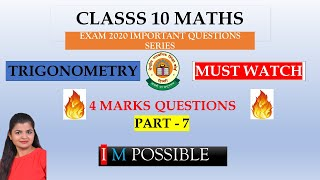 Exam Time Imp Questions for Class 10 Maths Students | Exam 2020 Maths