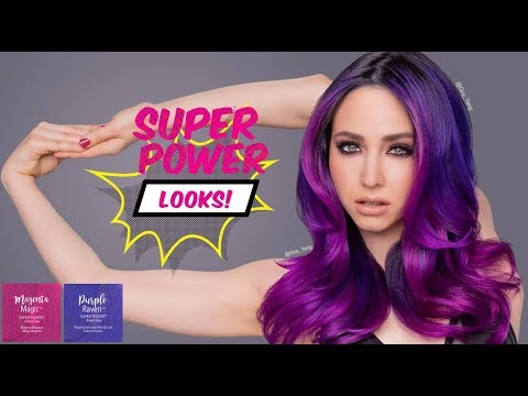 Purple Raven Hair Transformation