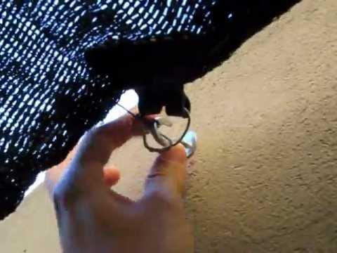 Como poner media sombra o colocacion de tela sombreada for Como poner chirok en el techo