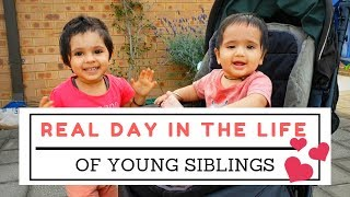 REAL Day in the Life of 2 Young Siblings | #❤ | Indian vlogger Mom N Me