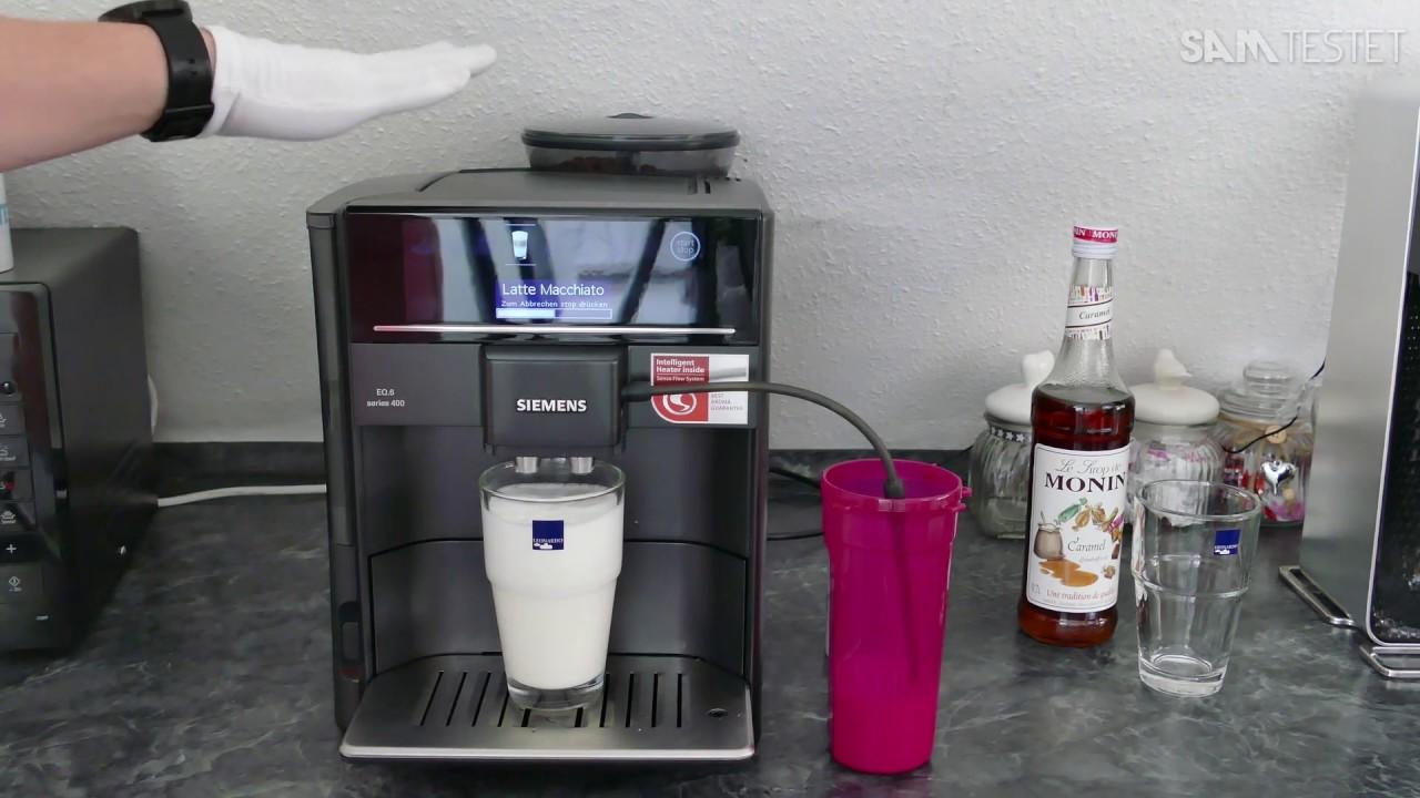 Siemens Eq 6 Series 400 4k Deutsch Kaffeevollautomat Coffee Youtube