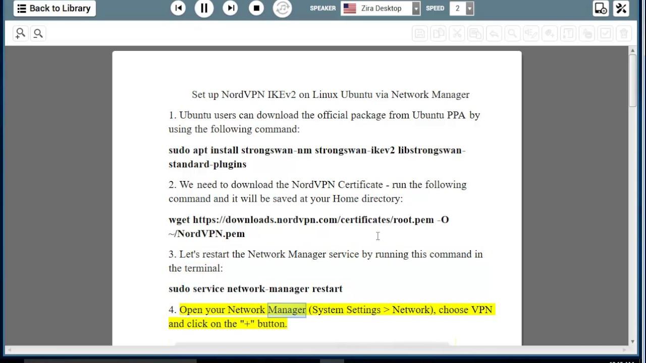 Set up NordVPN IKEv2 on Linux Ubuntu via Network Manager