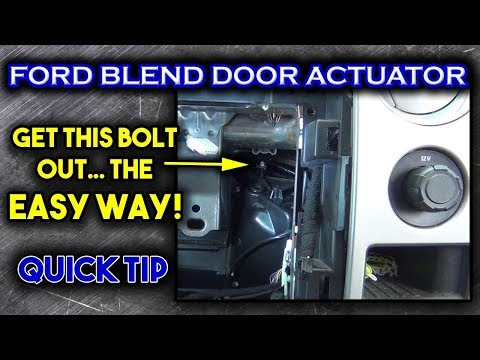 Ford Blend Door Actuator Replacement Youtube
