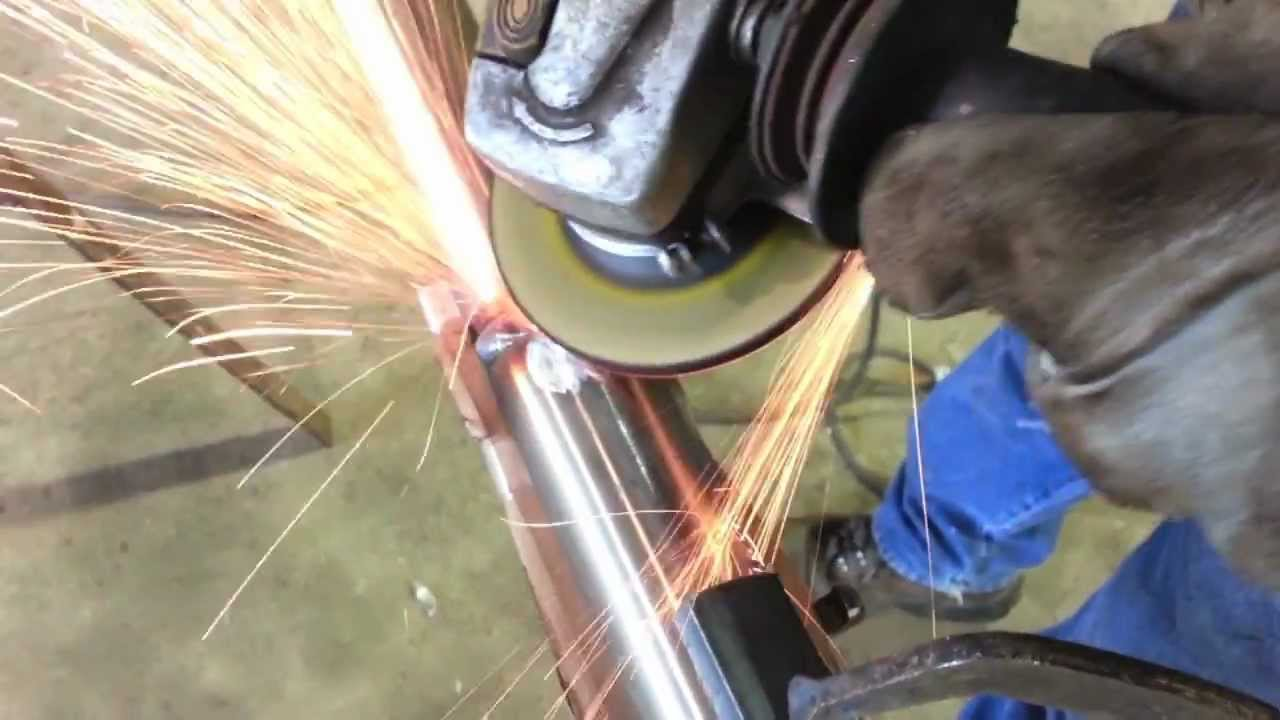 Grinding Stainless Steel With A Depressed Center Grinding