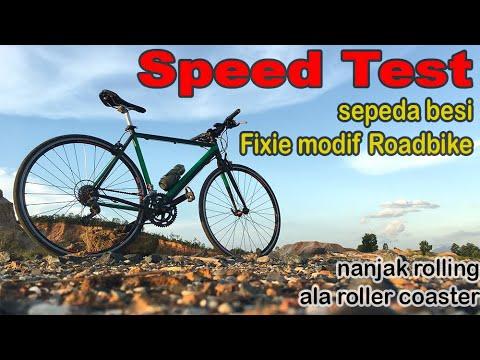 Modif Fixie Jadi Roadbike 1 Test Speed Jalan Rolling Youtube