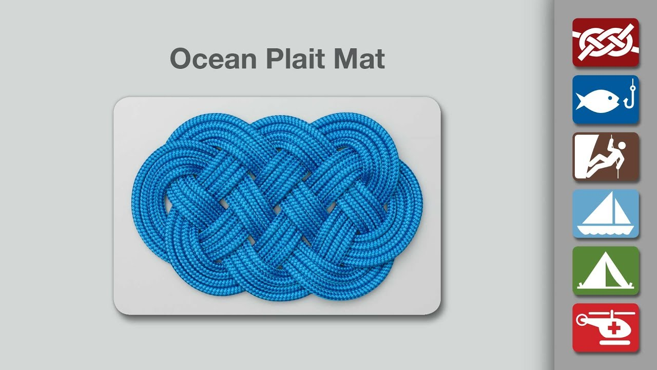 Ocean Plait Mat Knot How To Tie An