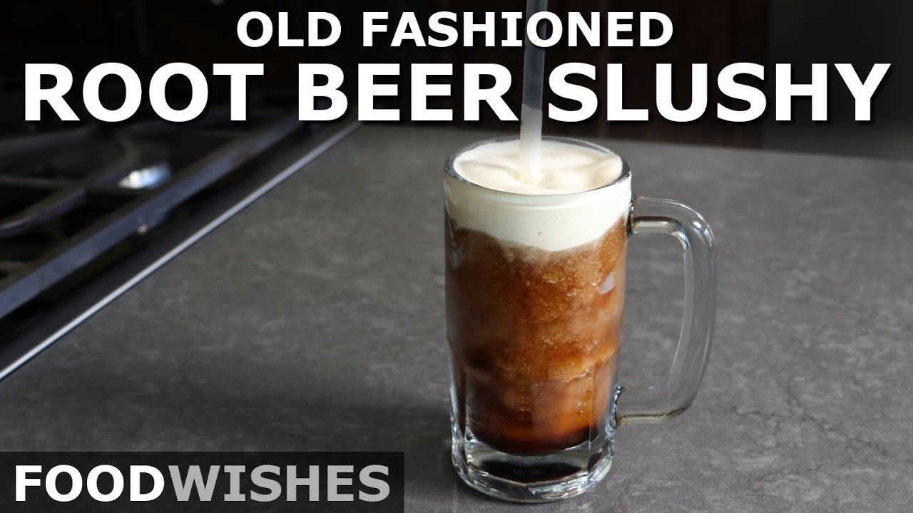 Old Fashioned Root Beer Slushy - Easiest Ice Cream Float - Food Wishes