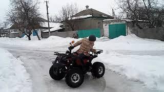 Дрифт на квадроцикле и проверка тормозов на льду!