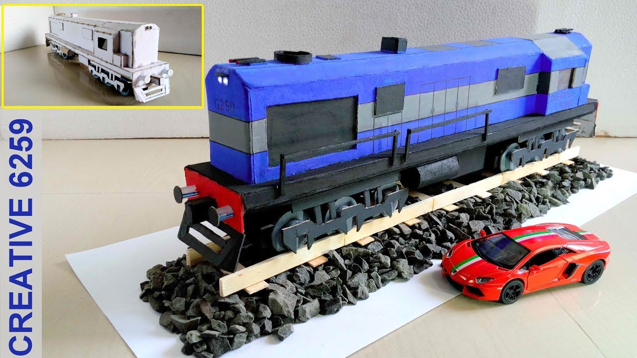 How To Make A Train Engine Electric Dc Motor Using Cardboard Diy Scale Model Rc 2 Way