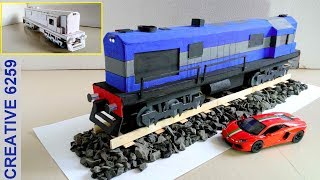 How To Make A Train Engine |Electric (DC) Motor |Using Cardboard | DIY Scale Model |RC Train (2 Way)