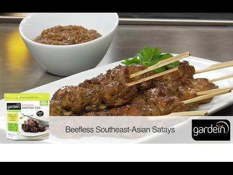 beefless southeast asian satay