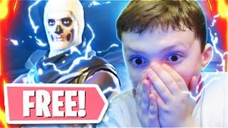 Surpreendendo meu irmãozinho com o SKULL TROOPER no Fortnite Battle Royale! (Free Skull Trooper)