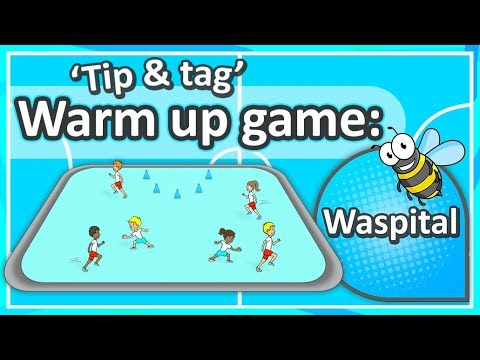 Tip & Tag Warm-up Game: 'Waspital' (K-6) | Teaching Fundamentals Of PE