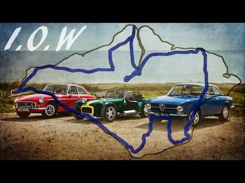 Three Classic Cars tour the Isle Of Wight