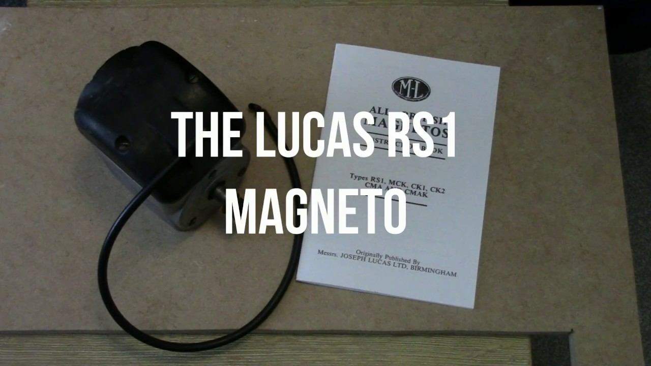 Lucas RS1 Magneto Stripdown