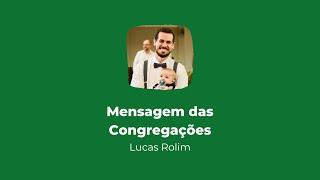 Culto online das Congregações | Mensagem 30/08/2020