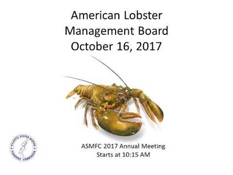 American Lobster Board Proceedings Oct2017
