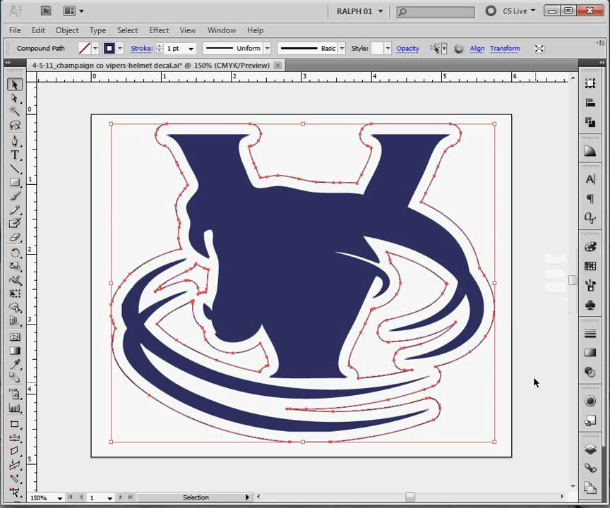 Decal cutting path step 1 making a contour path from artwork youtube