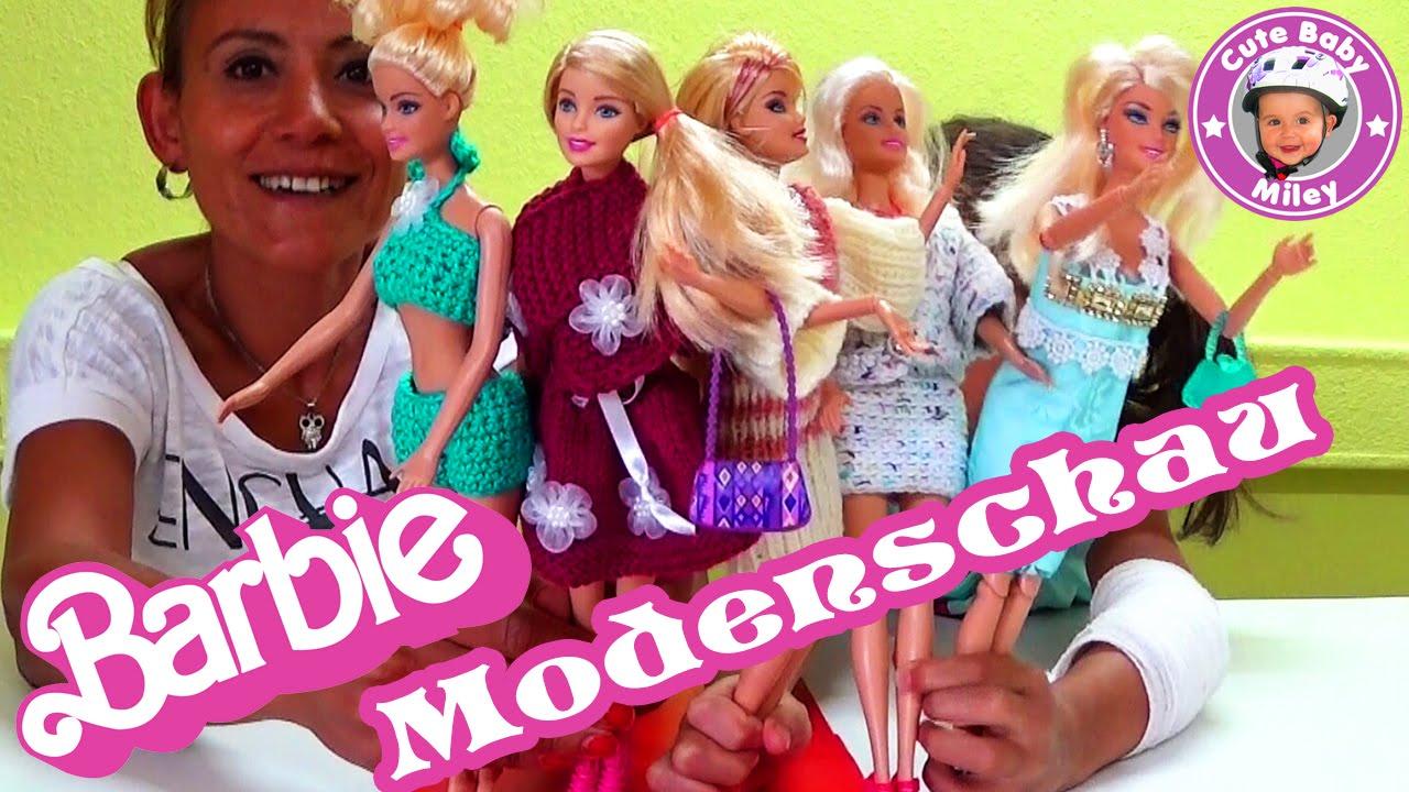 Barbie Modenschau Diy Selbst Gemachte Mode Häkeln Stricken