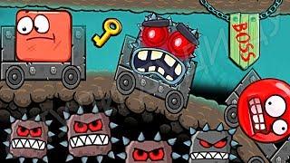 НОВЫЕ МОНСТРЫ ИЗ МАИНКРАФТ КРАСНЫЙ ШАРИК 4 - ПОДЗЕМНЫЕ ХОДЫ мультик игра для детей шар RED BALL 4