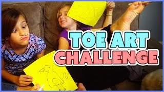 🎨TOE ART CHALLENGE 🎨AND READING YOUR SNAPCHATS | SMELLYBELLYTV